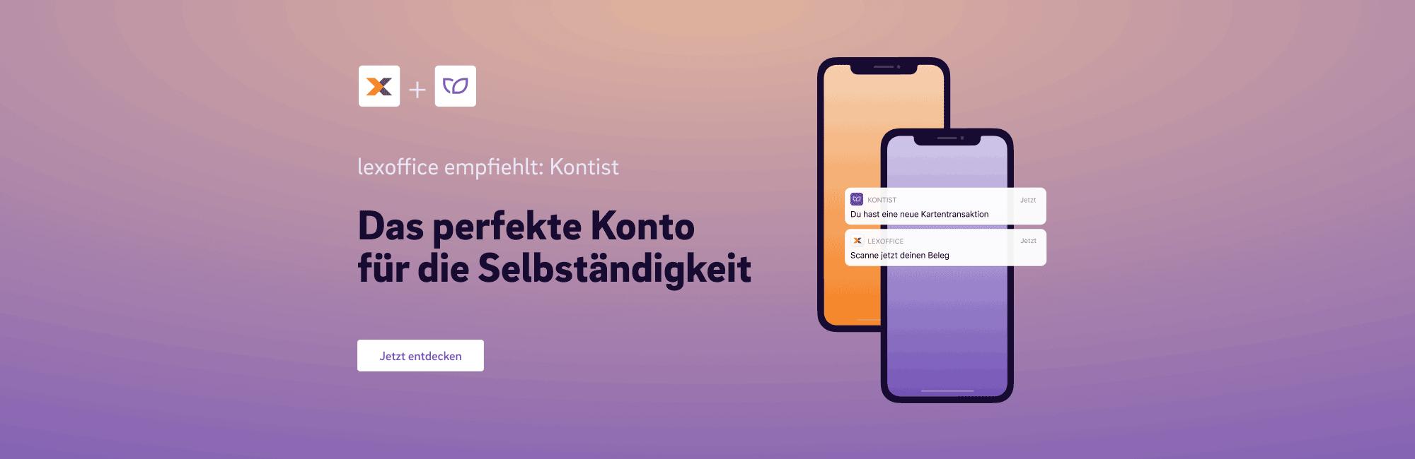 lexoffice empfiehlt Kontist