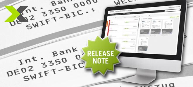 lexoffice Release Note, SEPA Integration