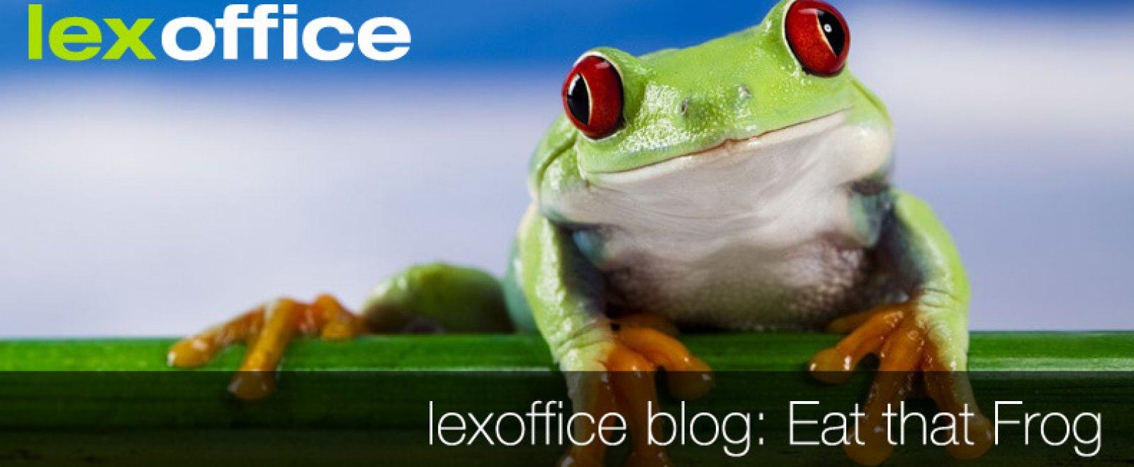 Work-Life-Balance: Eat that frog