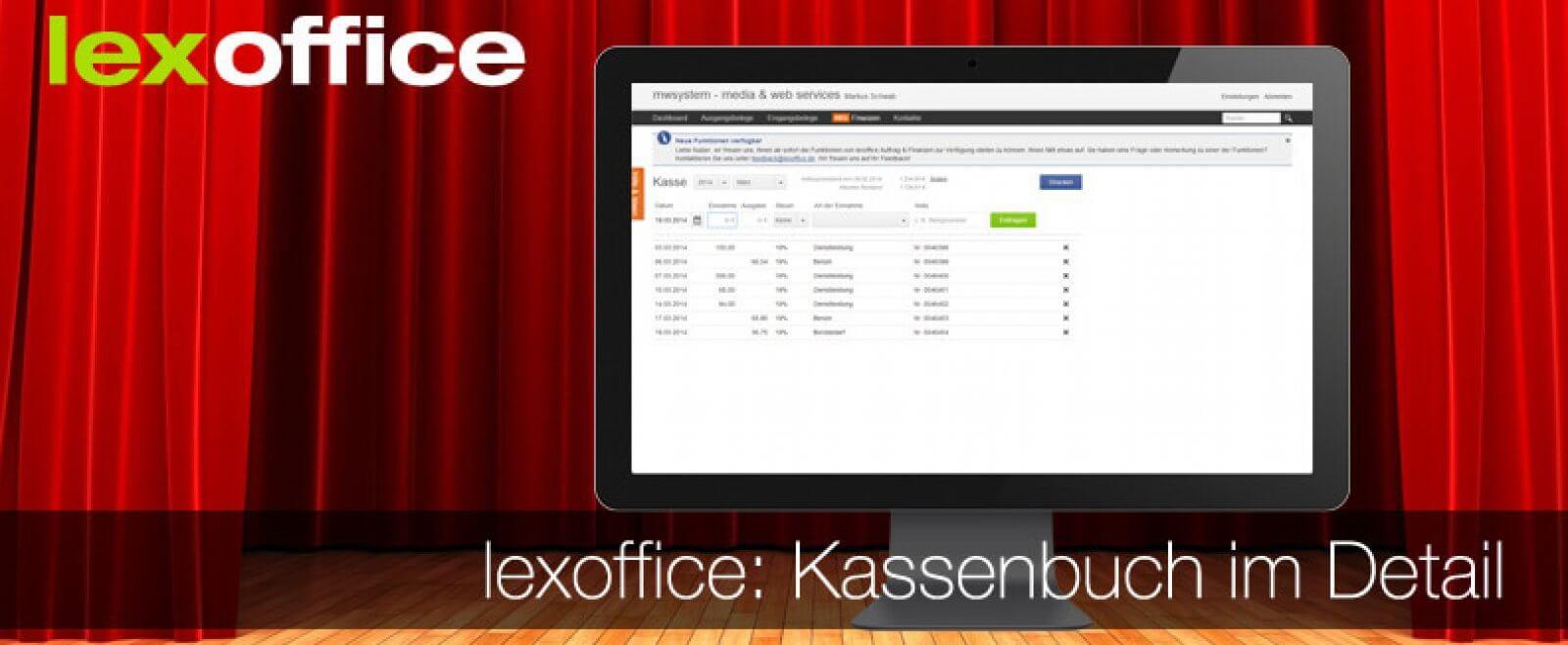 lexoffice Auftrag & Finanzen – das Kassenbuch