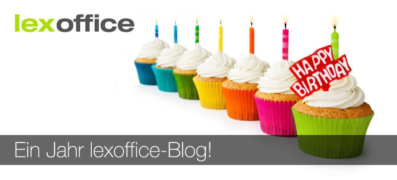 Jubiläum: Ein Jahr lexoffice-Blog