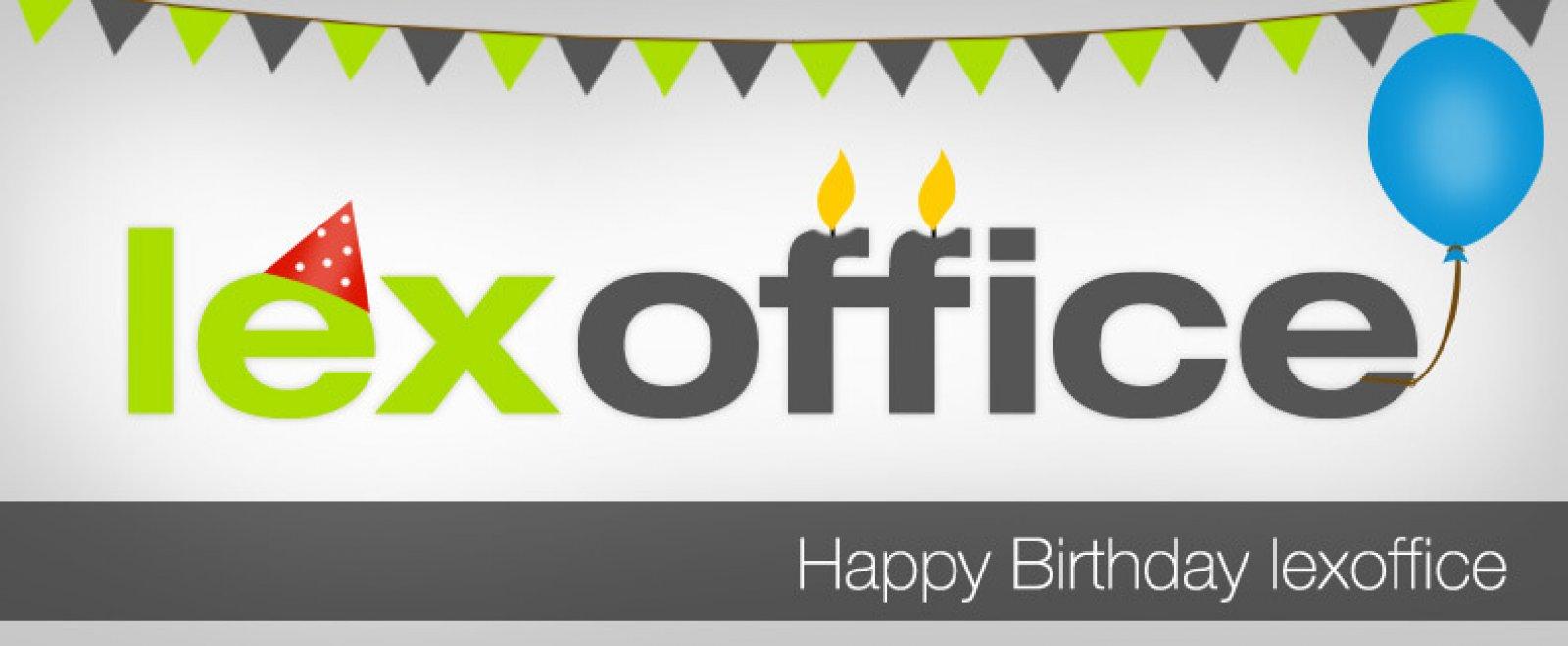 Herzlichen Glückwunsch zum 2. Geburtstag, lexoffice!