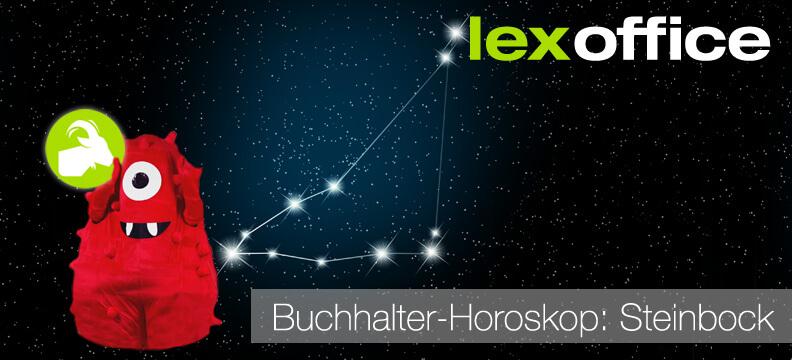 lexoffice Buchhaltungs-Horoskop: Steinbock (22. Dezember - 20. Januar)