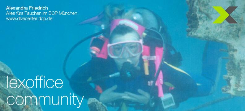 lexoffice Community: User-Interview (16) Alexandra Friedrich, Tauchschule München