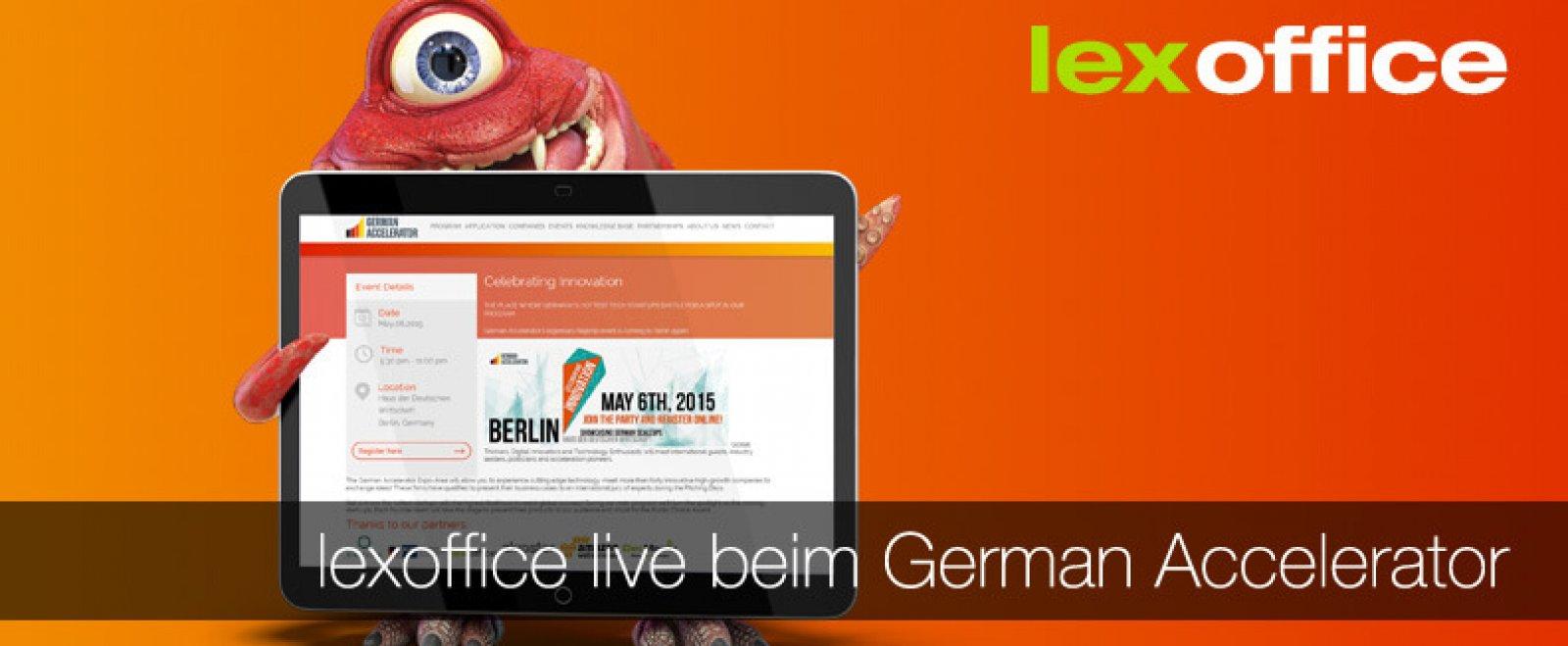 Blanche und Tatjana vom lexoffice Team auf dem German Accelerator in Berlin