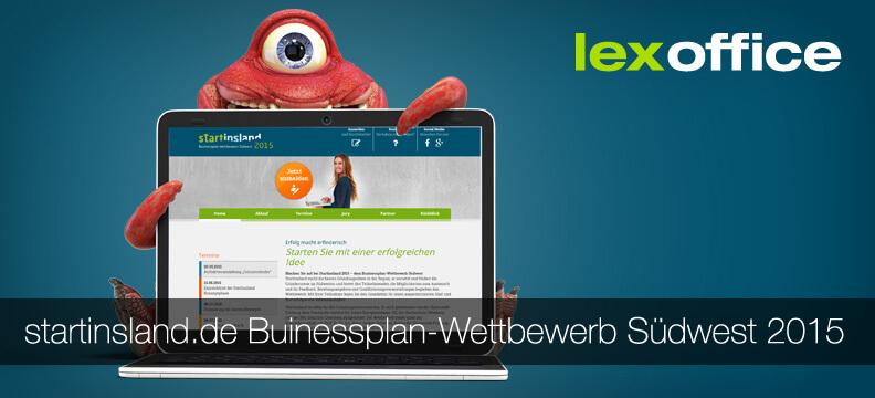 lexoffice ist Sponsor für den startinsland-Wettbewerb