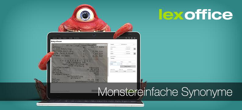 Jetzt neu: Monstereinfache Synonyme bei lexoffice