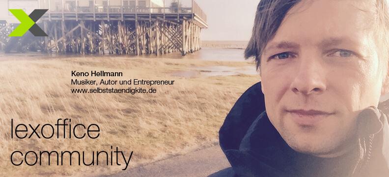 lexoffice Community: User-Interview (20) Keno Hellmann von selbststaendigkite.de