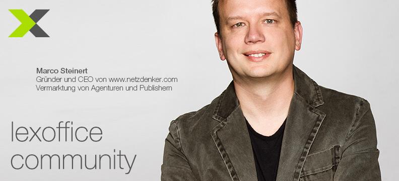 lexoffice Community: User-Interview (21) Marco Steinert von netzdenker.com