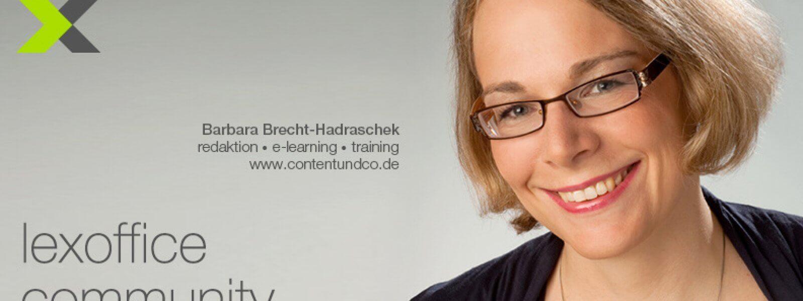 lexoffice Community: User-Interview (23) Barbara Brecht-Hadraschek, contentundco.de