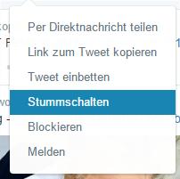 Stummschalten auf Twitter