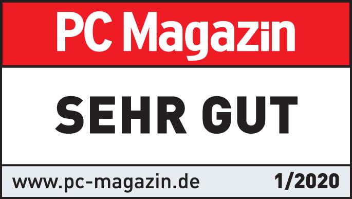 """Testsiegel """"sehr gut"""" von """"PC Magazin"""" für lexoffice Lohn & Gehalt"""