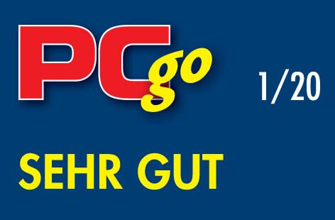 """Testsiegel """"sehr gut"""" von """"PC go"""" für lexoffice Lohn & Gehalt"""