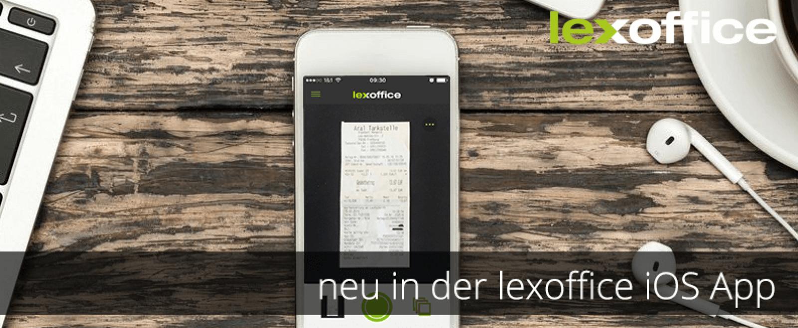 Stets gut erfasst: Neu in der lexoffice iOS Scan App