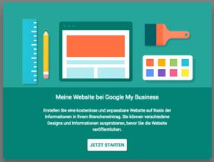 Googly my Business Website Baukasten