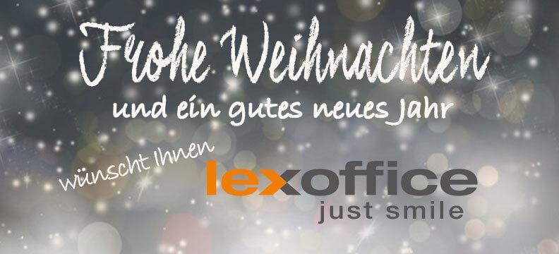 Das lexoffice Team wünscht ein frohes Fest