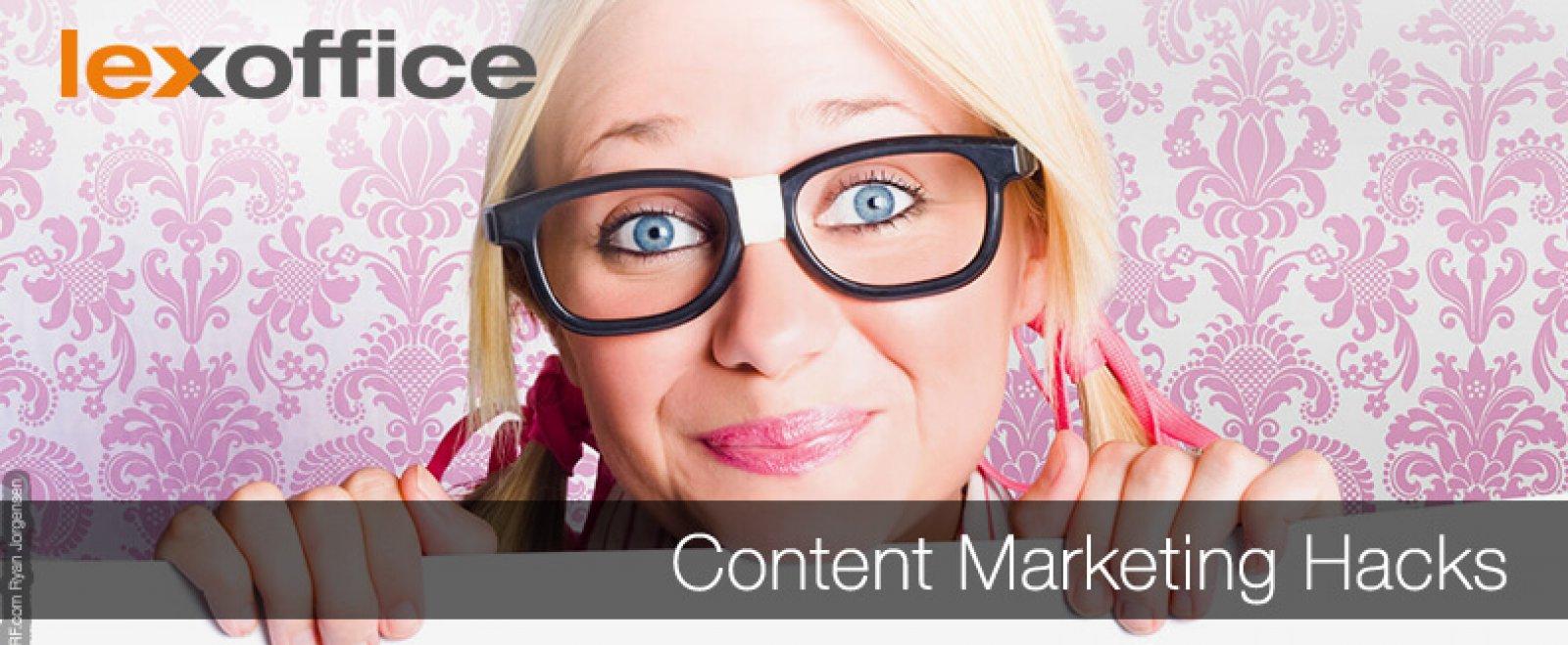 Content Marketing Hacks für Shopbetreiber