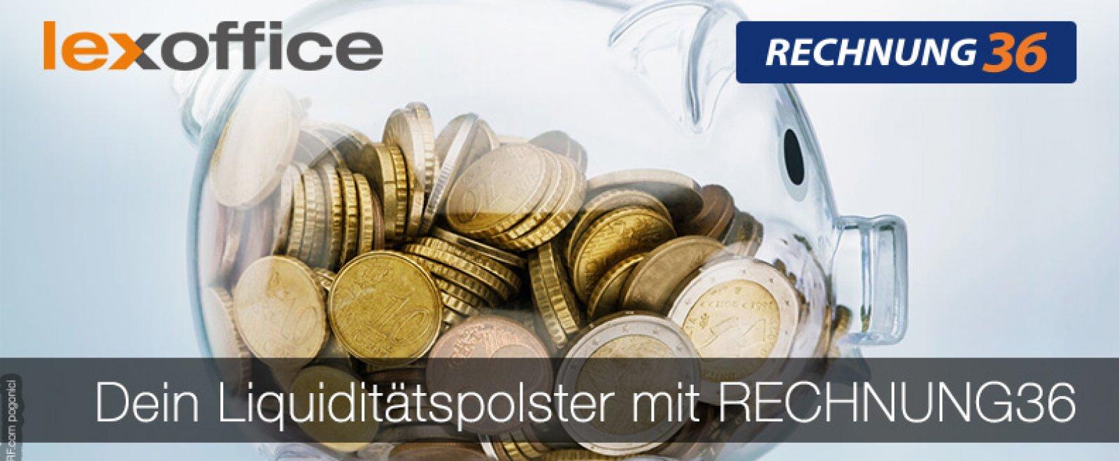 RECHNUNG36 bietet Freiberuflern und Selbstständigen ein Liquiditätspolster