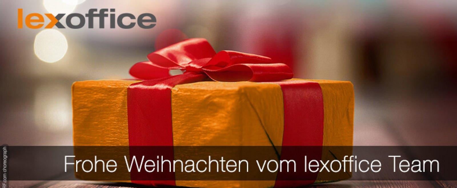 Geniale Weihnachten wünscht das lexoffice Team :-)