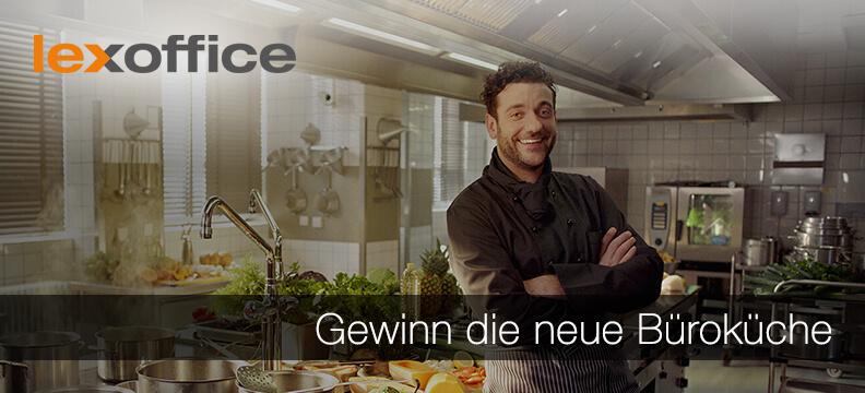 lexoffice Gewinnspiel: Fotos auf den Tisch - neue Büroküche im Wert von 20.000 Euro zu gewinnen