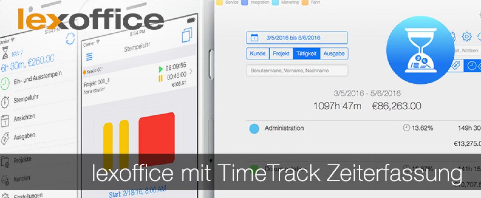 lexoffice mit TimeTrack Zeiterfassung - optimale Partner für Deine digitale Arbeitsumgebung
