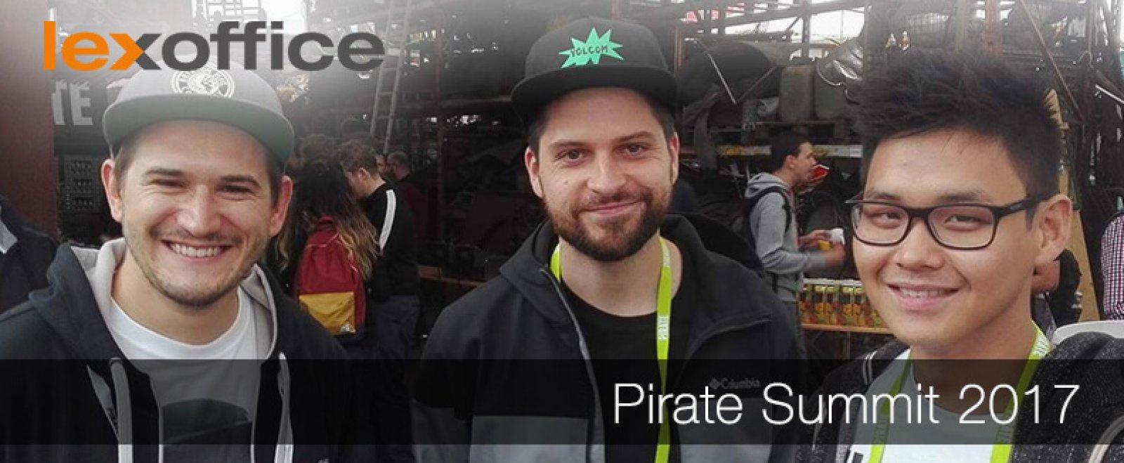 lexoffice und lexRocket auf dem Pirate Summit 2017