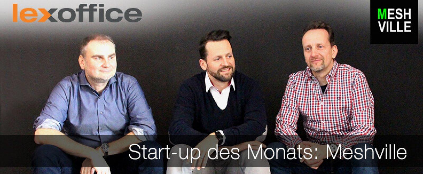 Unser Start-up des Monats Meshville ist eine Plattform für die flexible Buchung von Arbeitsplätzen, Besprechungs- und Eventräumen in Coworking Spaces.
