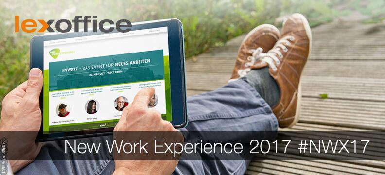 lexoffice in Berlin auf der New Work Experience #NWX17, dem Mega-Event für Neues Arbeiten