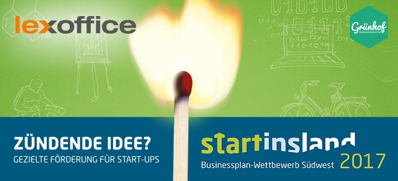 Gründerzünder: Der Startinsland Businessplan-Wettbewerb Südwest 2017