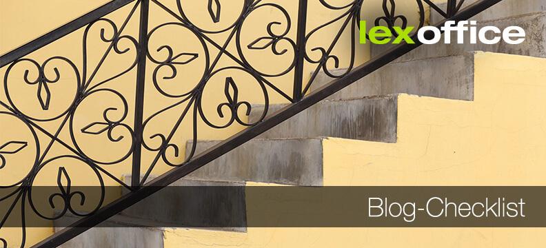 Blog Checklist: Starten Schritt für Schritt