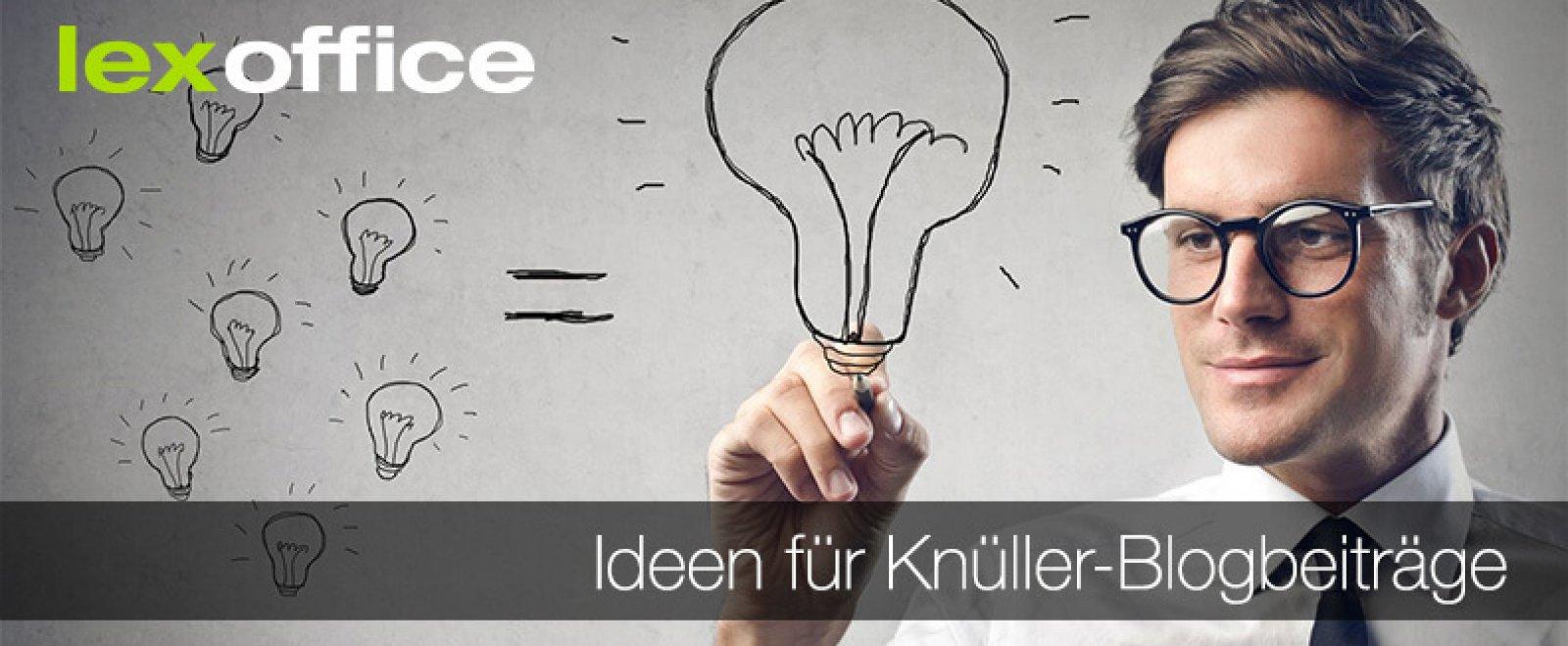 Online-Marketing: Ideen für Knüller-Blogbeiträge