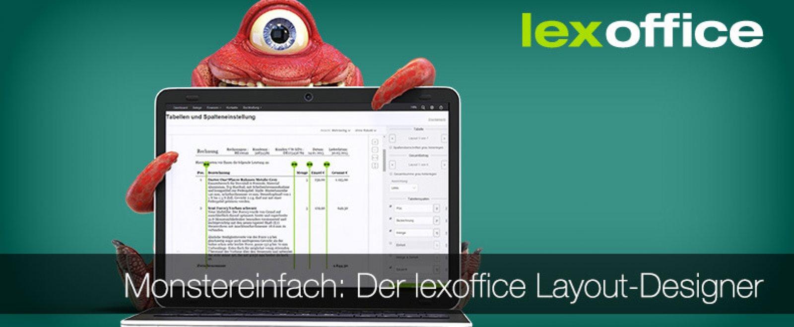 Monstereinfach: Unser neuer lexoffice Layout-Designer