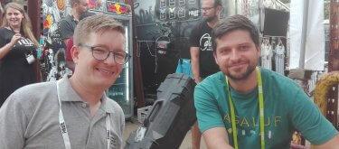 Interview mit Daniel Bartel vom Bundesverband Deutsche Startups e. V., rechts im Bild Florian Schmitt von lexrocket