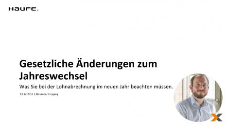 Jahreswechsel Webinar 2021 von lexoffice Lohn & Gehalt