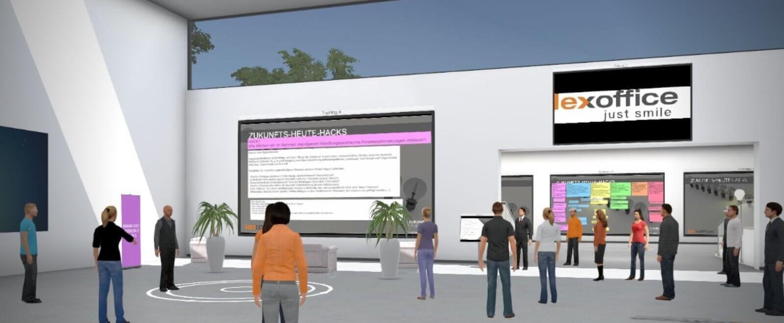 Zukunftswerkstatt 2020: Die #zukunftskanzlei in in einer 3D-Welt mit eigenen Avataren