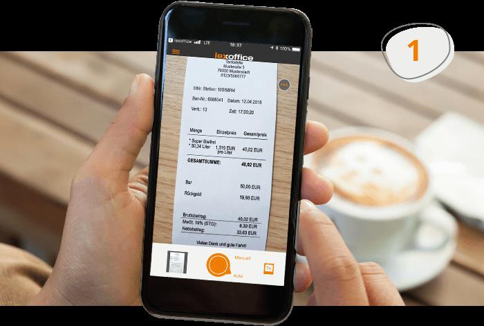 Belege mit der lexoffice Scan App für Buchhaltung fotografieren
