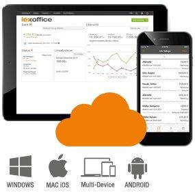 Vorlage Grafik Devices lexoffice Rechnungsprogramm Buchhaltungssoftware