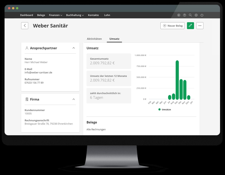 Mit lexoffice Lieferanten- und Kundendaten auf einen Blick