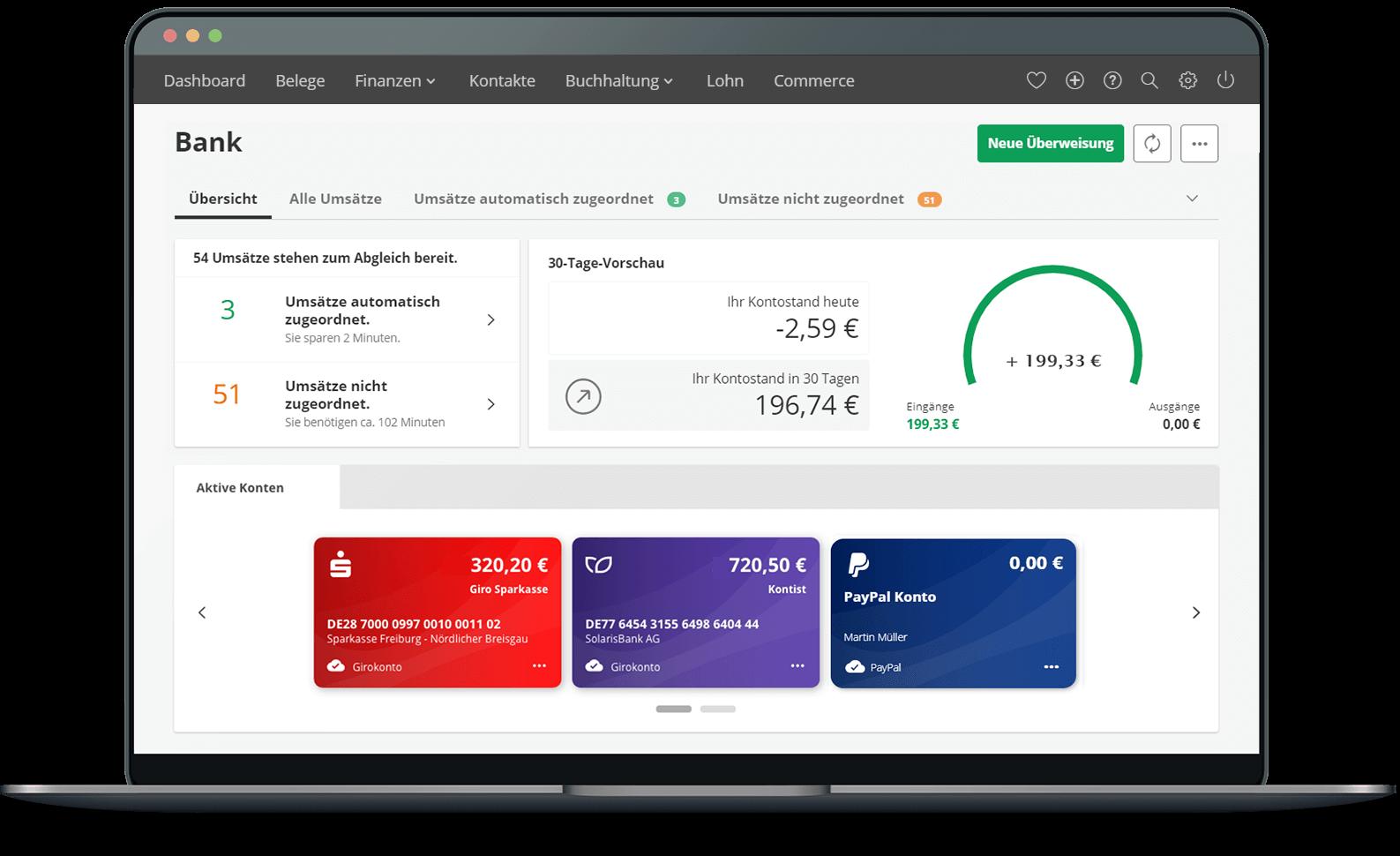 PayPal-Konto mit lexoffice verbinden und Zahlungen verbuchen