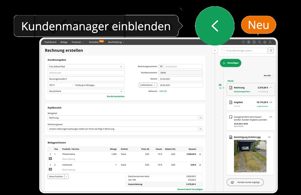 lexoffice Kundenmanager Datenanbindung