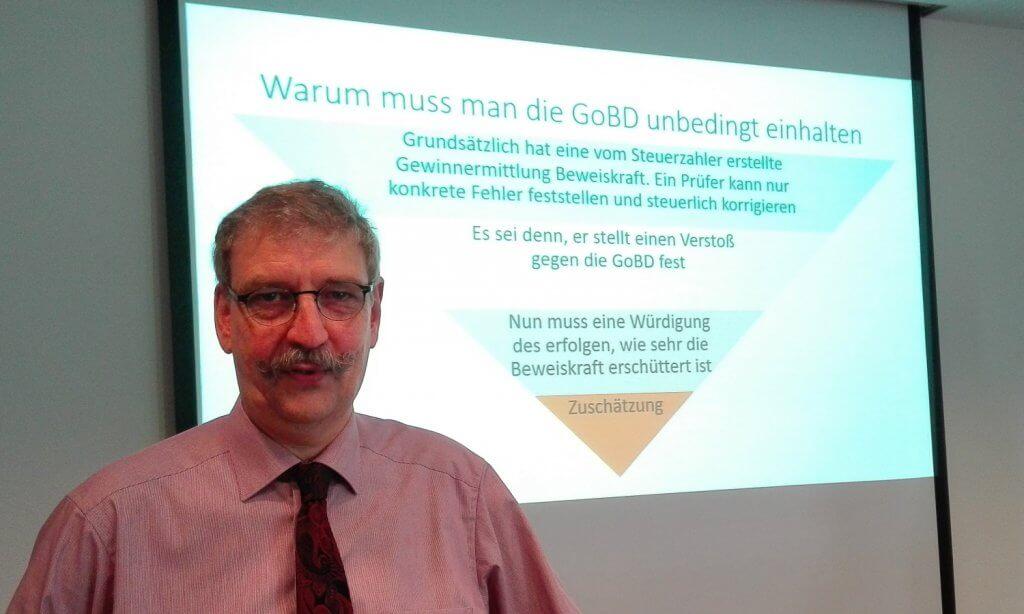 """Impressionen von der GoBD Roadshop mit dem Workshop """"GoBD Steuerfalle"""" in Düsseldorf"""