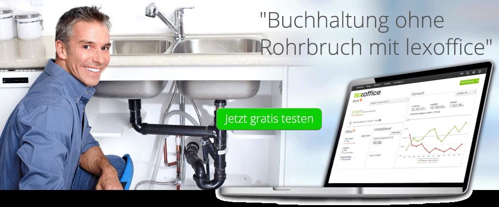 Buchhaltung Software für Sanitär-Installateure - lexoffice