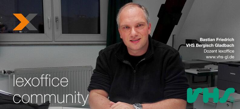 lexoffice Community Interview: Bastian Friedrich, lexoffice Dozent VHS Bergisch Gladbach