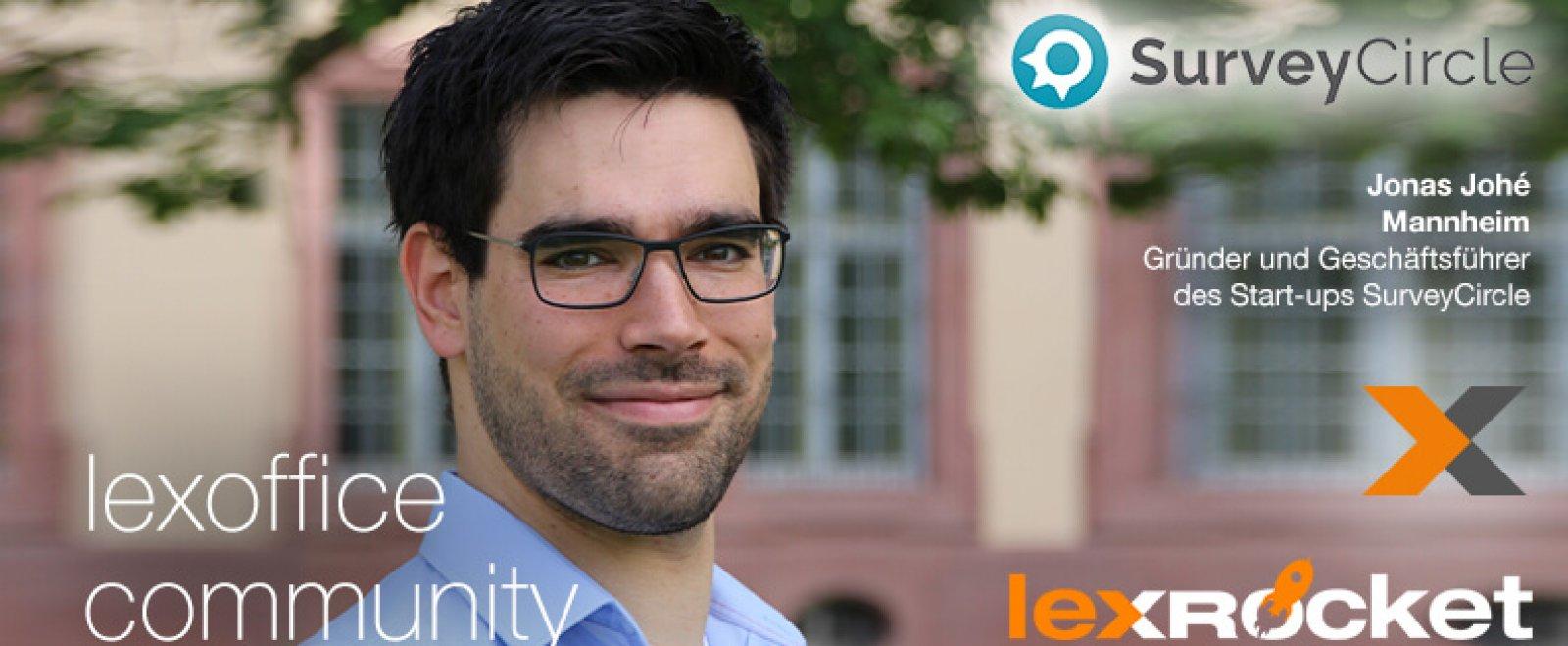 lexRocket & lexoffice Community Interview: Jonas Johé von surveycircle