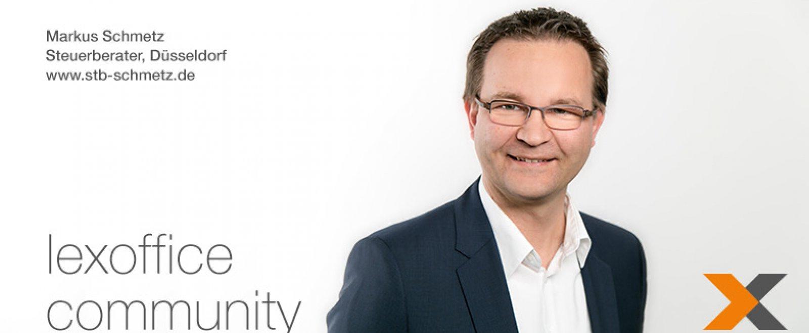 Steuerberater Markus Schmetz aus Düsseldorf im lexoffice Community Interview