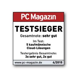 Lexoffice Buchhaltungssoftware ist PC Magazin Testsieger