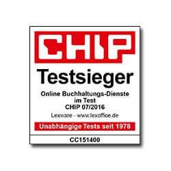Logo Chip Testsiegel 2016 lexoffice Rechnungsprogramm Buchhaltungssoftware