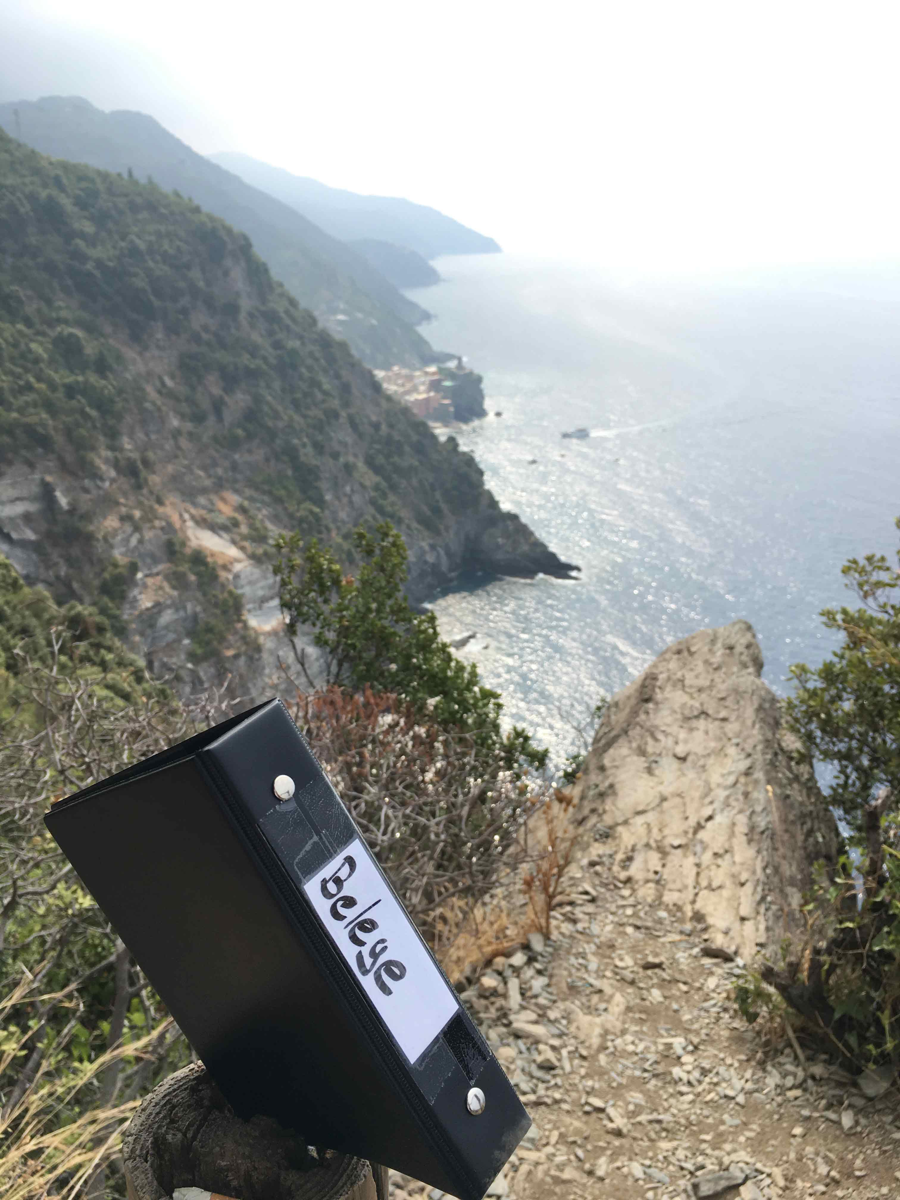 Pendelordner in der Cinque Terre