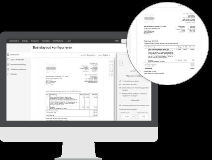 Layout Designer Individuellenes Rechnungsdesign Mit Lexoffice