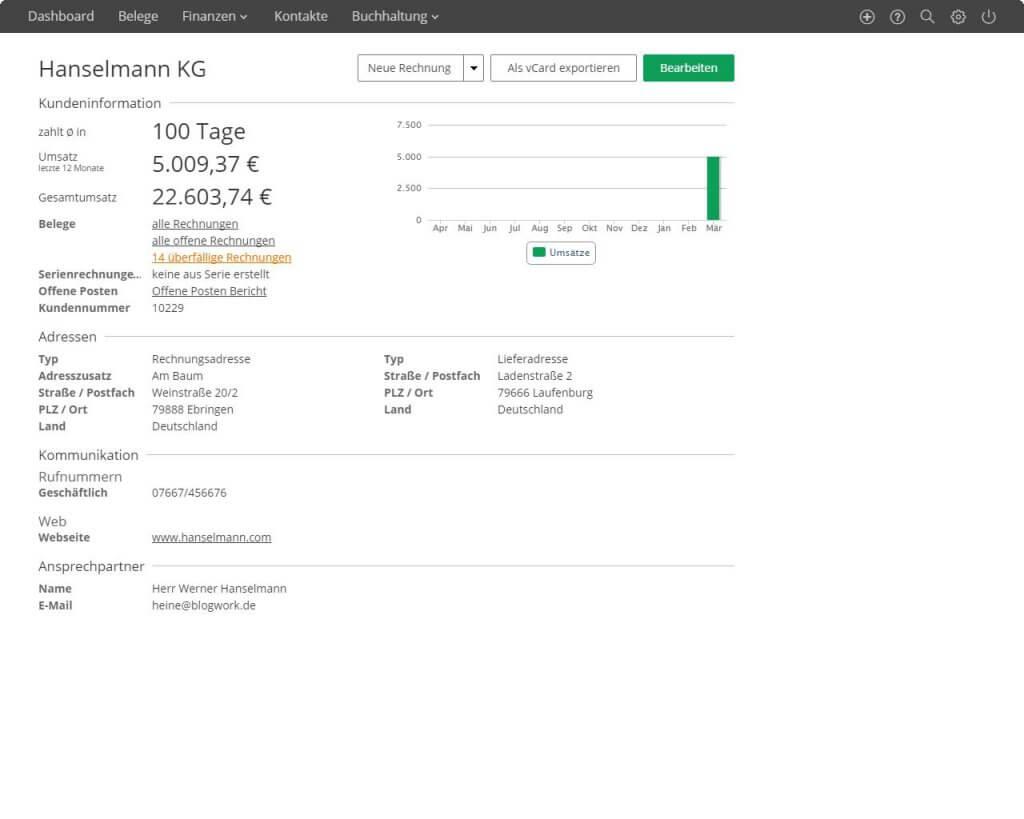 Lexoffice Rechnung Finanzen 790 Monat